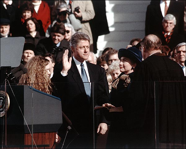 President Bill Clinton 1993 Oath of Office Photo Print for Sale