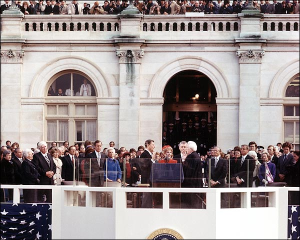 President Ronald Reagan 1981 Oath of Office Photo Print for Sale