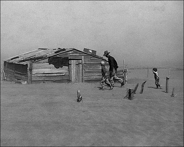 Arthur Rothstein Farmers in Dust Storm FSA Photo Print for Sale