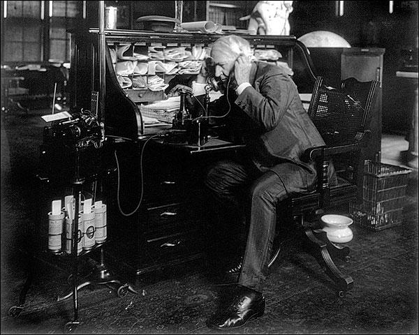 Thomas Edison Dictating Machine Photo Print for Sale