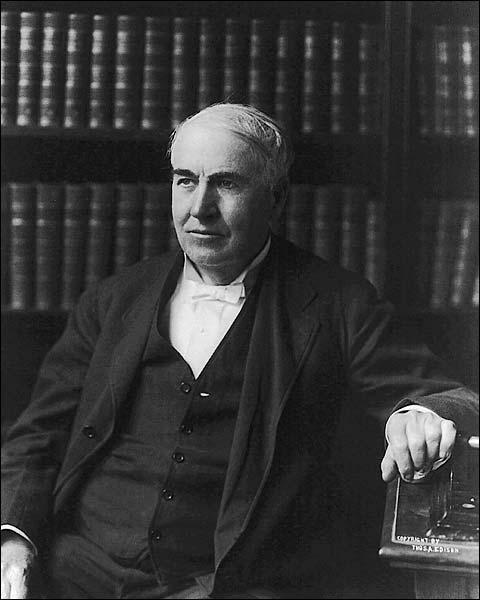 Thomas Edison Half Length Seated Portrait Photo Print for Sale