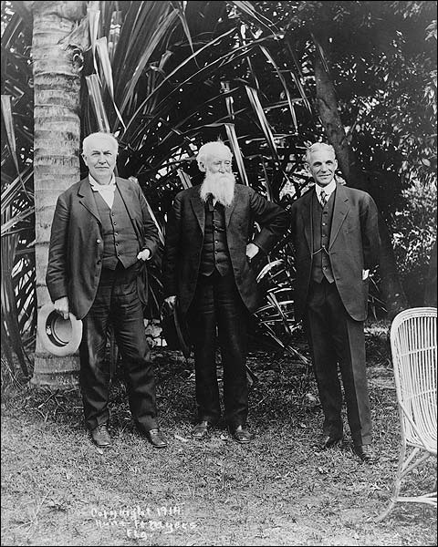 Thomas Edison, John Burroughs & Henry Ford Photo Print for Sale