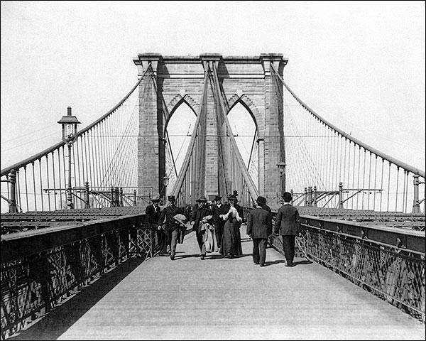 Brooklyn Bridge New York City 1898 Photo Print for Sale