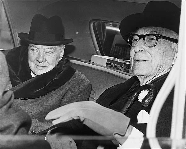 Sir Winston Churchill & Bernard Baruch Photo Print for Sale