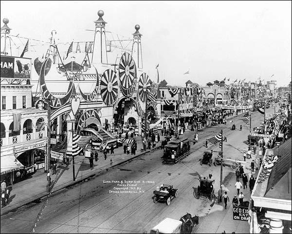 Coney Island Luna Park Entrance 1912 Photo Print for Sale