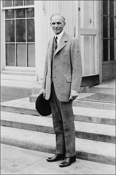 Henry Ford Portrait Standing by White House Photo Print for Sale