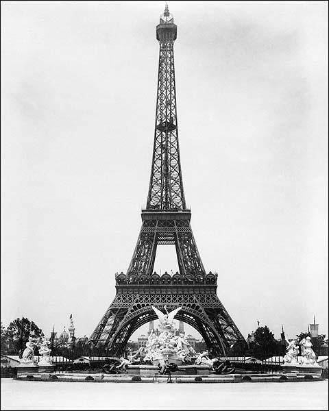 Eiffel Tower & Fountain Coutan, Paris 1889 Photo Print for Sale