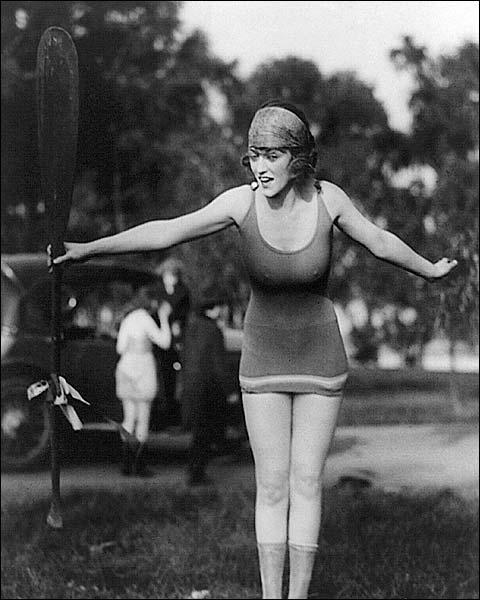 Sexy Mack Sennett Girl in Bathing Suit Photo Print for Sale