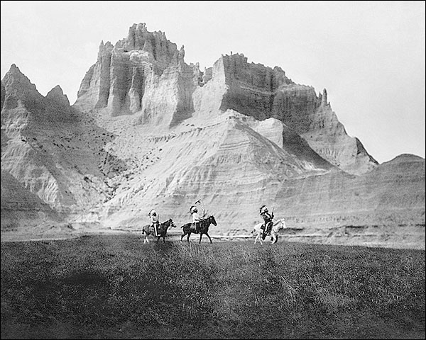 Edward S. Curtis Sioux Indians in Badlands Photo Print for Sale
