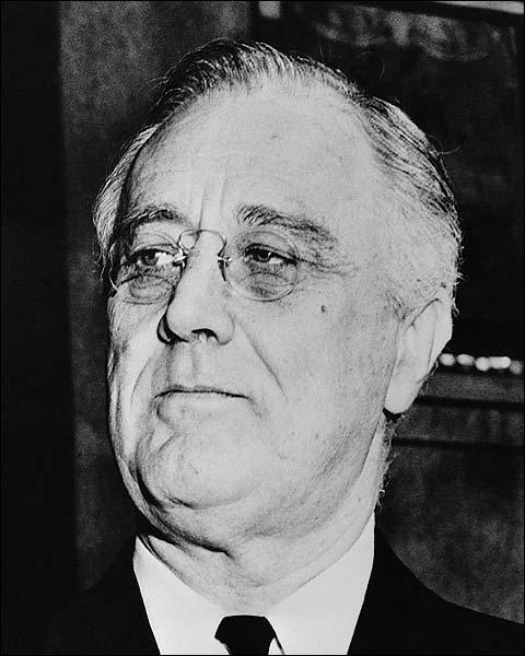 President Franklin D Roosevelt Portrait Photo Print for Sale