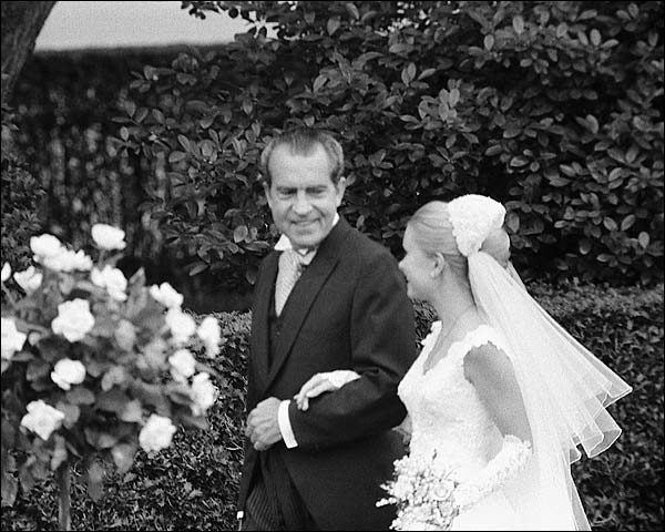 President Richard Nixon & Tricia at Wedding Photo Print for Sale