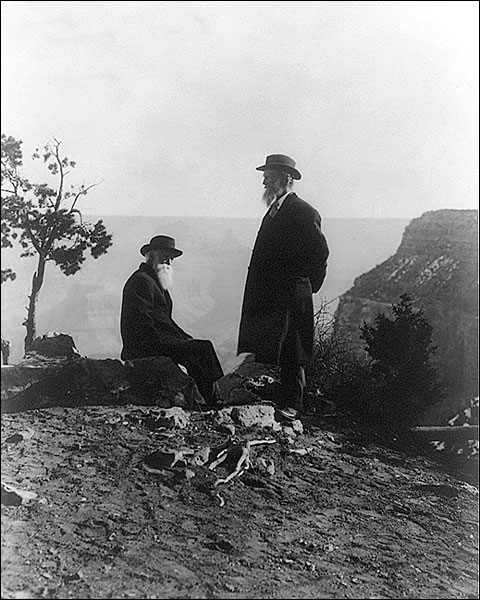 John Muir & John Burroughs, Grand Canyon Photo Print for Sale