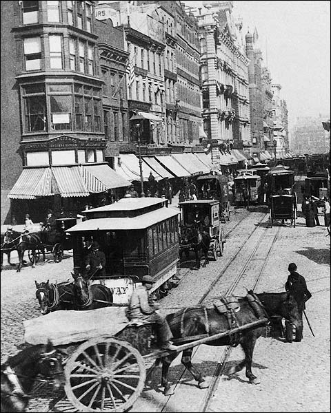 Broadway & Union Square, New York City 1892 Photo Print for Sale