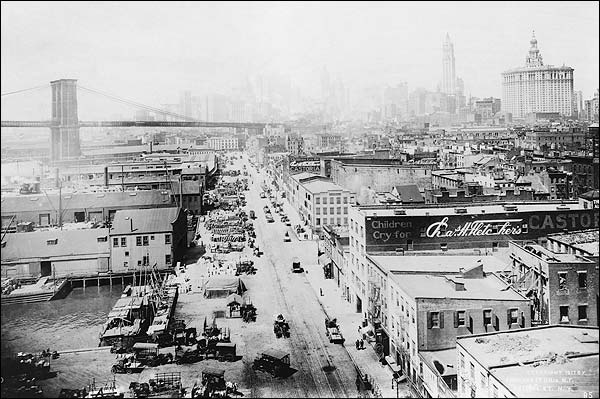 South Street & Brooklyn Bridge New York Photo Print for Sale
