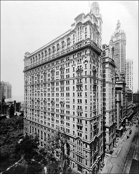 Trinity Buildings at Broadway New York City Photo Print for Sale
