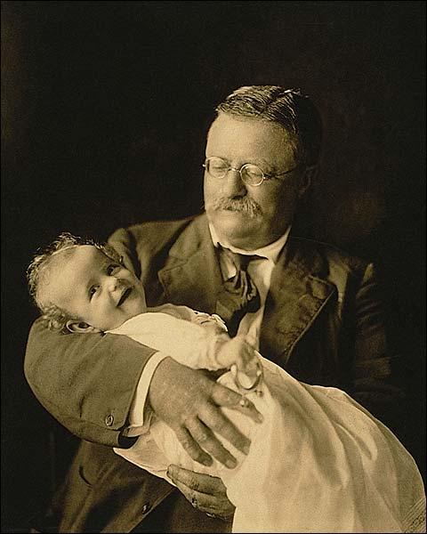 President Theodore Roosevelt & Grandson Kermit Photo Print for Sale