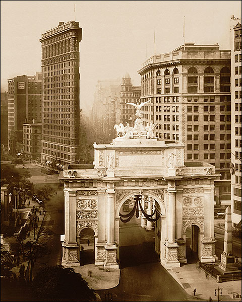 Victory Arch & Flatiron, New York City 1919 Photo Print for Sale