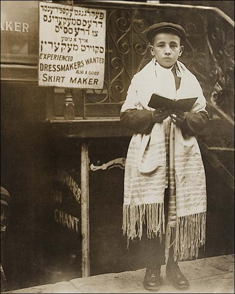 Jewish Boy on East Side, New York City 1911 Photo Print for Sale