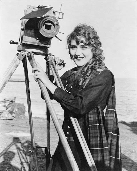 Actress Mary Pickford Portrait w/ Camera Photo Print for Sale