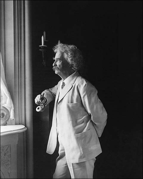 Samuel Mark Twain Clemens Portrait Photo Print for Sale