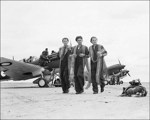 WWII P-40 Warhawk Flight Crew w/ Ammunition Photo Print for Sale