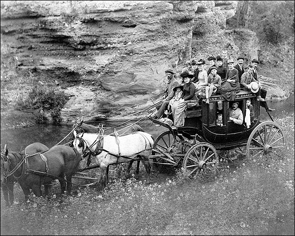 Old West Stage Coach, Dakotas 1889 Photo Print for Sale