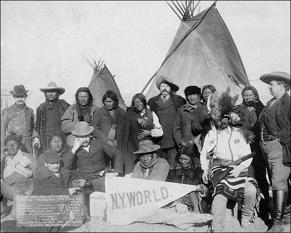 Buffalo Bill w/ Indian Chiefs & Officials Photo Print for Sale