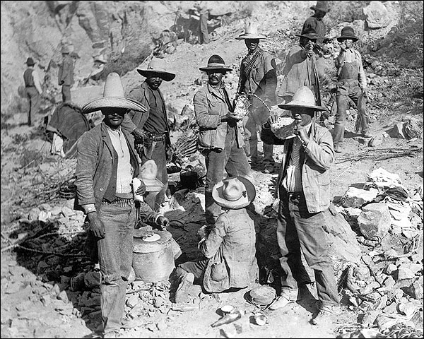 Mexican Revolution Rebels Eating Tortillas Photo Print for Sale