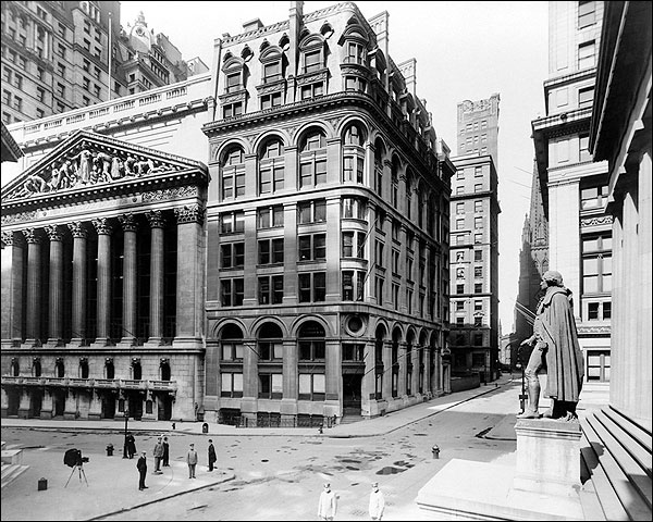 New York Stock Exchange & Wilks Building Photo Print for Sale