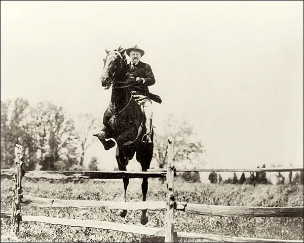 President Theodore Roosevelt on Horseback Photo Print for Sale