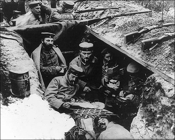 German WWI Soldiers in Trenches Photo Print for Sale