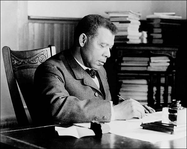 Booker T. Washington Portrait at Desk Photo Print for Sale