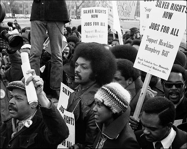 Jesse Jackson Hawkins-Humphrey Bill March Photo Print for Sale