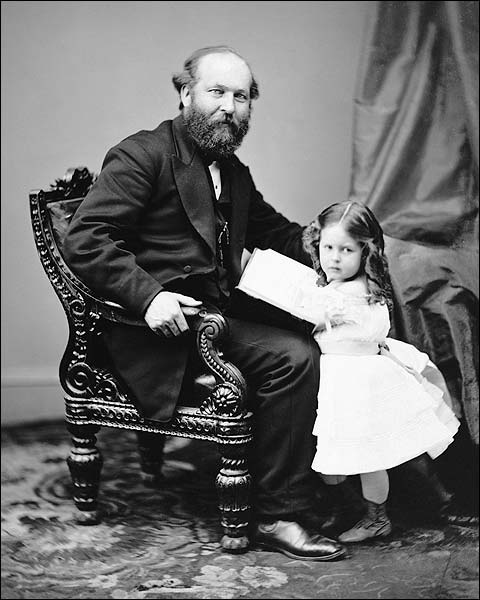 President James Garfield & Daughter Photo Print for Sale