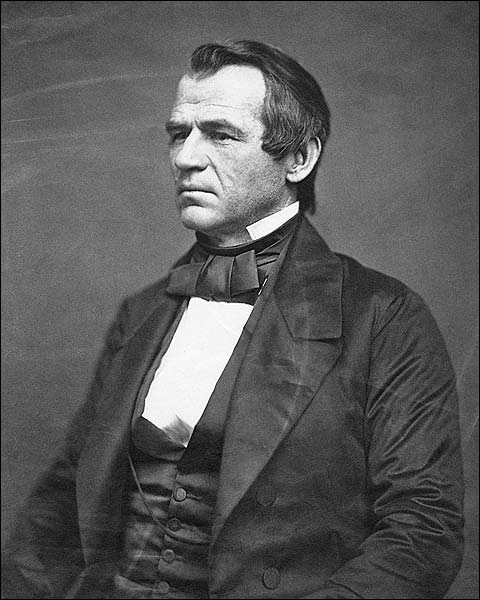President Andrew Johnson Portrait Photo Print for Sale