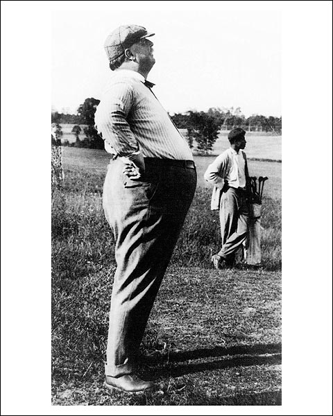 President William Howard Taft Golf Profile Photo Print for Sale
