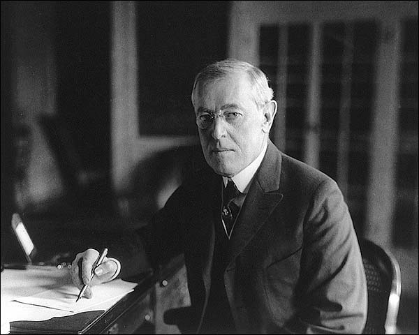 President Woodrow Wilson Seated Portrait Photo Print for Sale
