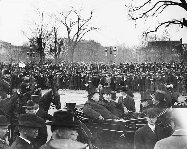 Pres. Woodrow Wilson Inauguration & Taft Photo Print for Sale