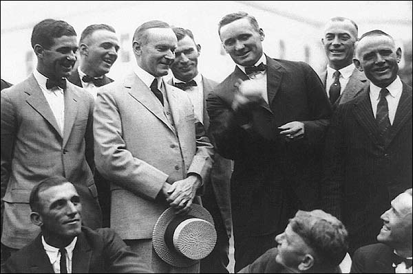 Calvin Coolidge & Walter Johnson Baseball Photo Print for Sale