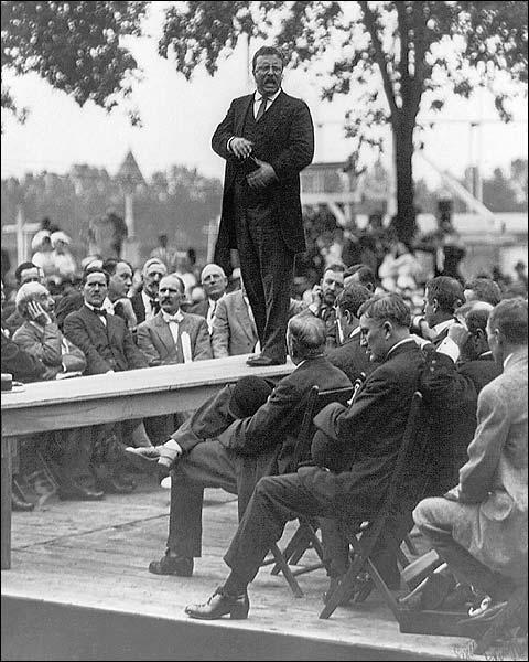 President Theodore Roosevelt Making Speech Photo Print for Sale