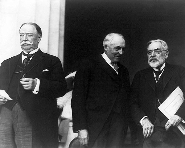 Warren G. Harding & Justice William H. Taft Photo Print for Sale