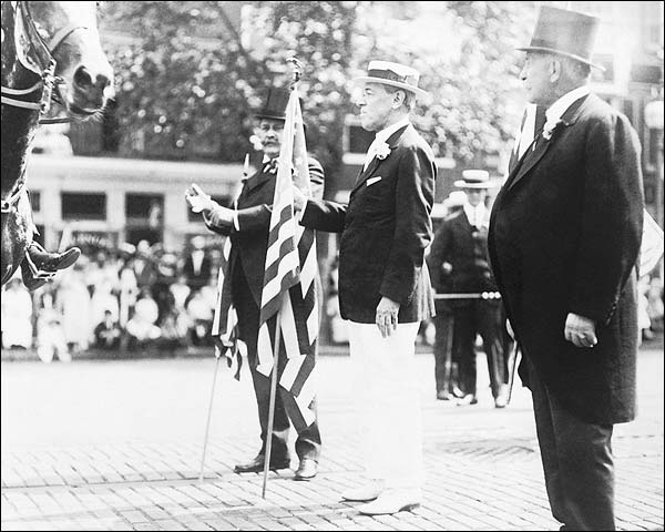 President Woodrow Wilson & US Flag Parade Photo Print for Sale