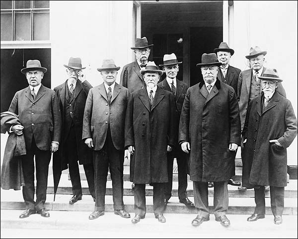 Chief Justice William Taft & Circuit Judges Photo Print for Sale