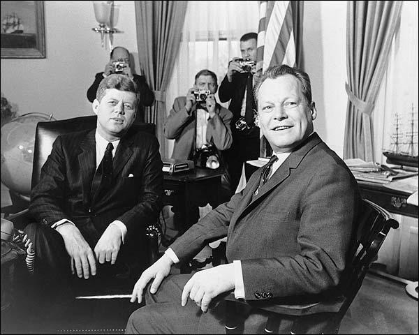 President John F. Kennedy & Willy Brandt Photo Print for Sale