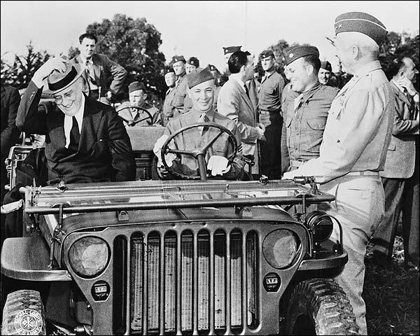 Franklin D Roosevelt Troops WWII Casablanca Photo Print for Sale
