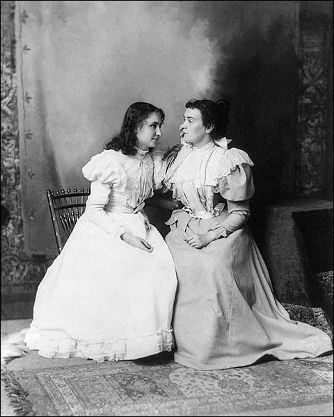 Helen Keller & Anne Sullivan Portrait 1897 Photo Print for Sale