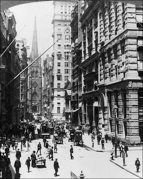 Wall Street Trinity Church New York 1910 Photo Print for Sale