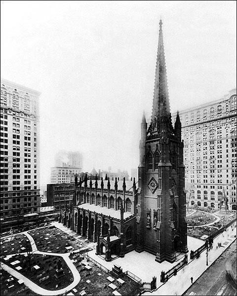 Trinity Church w/ Graveyard New York City Photo Print for Sale