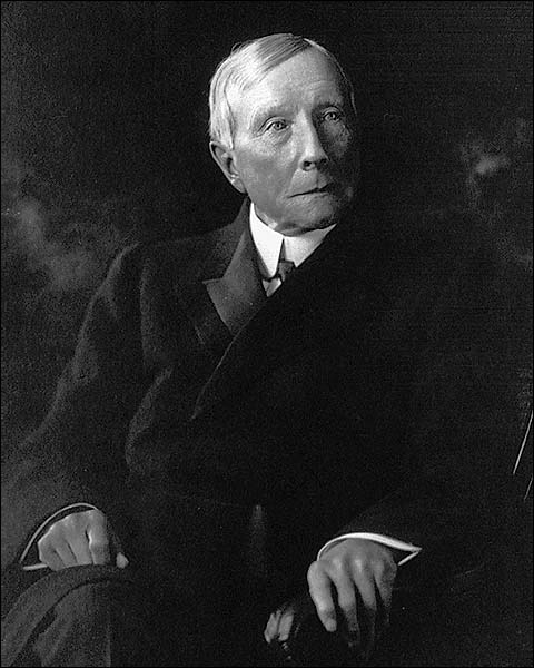 John D. Rockefeller Seated Portrait 1910 Photo Print for Sale
