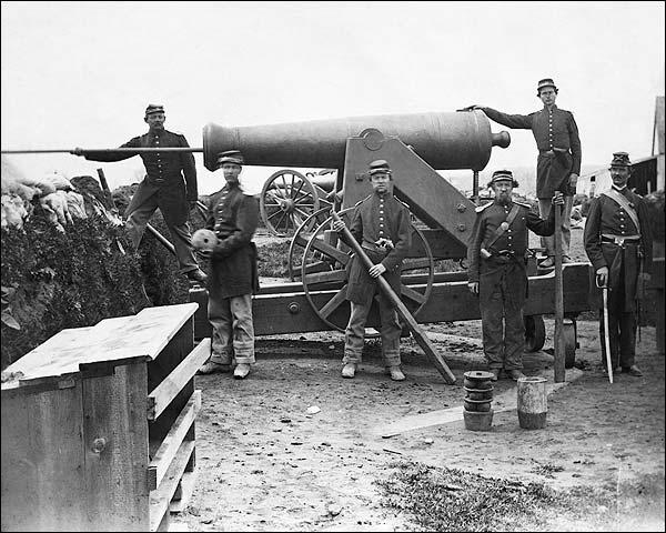 Civil War 4th NY Heavy Artillery Siege Gun Photo Print for Sale